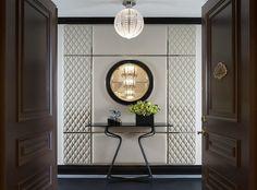 pretty idea for bedroom doors; The St. Regis New York—Bentley Suite Entrance Classic Interior, Luxury Interior, Wall Design, House Design, New York Hotels, Entrance Foyer, Entrance Halls, Foyers, Hospitality Design