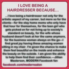 Love my job! Hairdresser Quotes, Hairstylist Quotes, Cosmetology Quotes, Hairstylist Problems, Salon Quotes, Hair Quotes, Curly Hair Specialist, Hair Affair, Love My Job