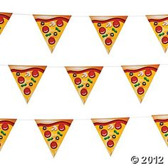 This awesome Pizza themed flag banner sets the scene for your party! card - printed both sides Ninja Turtle Party, Turtle Birthday, Ninja Turtles, 5th Birthday, Pizza Party Birthday, Birthday Party Themes, Birthday Ideas, Party Kit, Party Shop