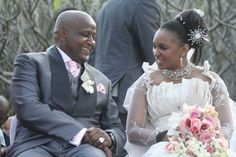 Zulu Princess Bukhosibemvelo, daughter of King Zwelithini of South Africa and Queen Mantfombi, the sister of King Mswati III of Swaziland weds business executive Sipho Nyawo at Ntuzuma Full Gospel Community Church in Durban, South Africa, August 2009.