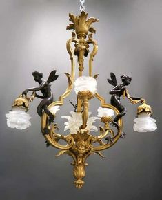 Lot: Fine 19th C. French Figural Bronze Chandelier, Lot Number: 0018, Starting Bid: $6,000, Auctioneer: Royal Antiques, Auction: Special New Year Sale, Date: January 1st, 2018 EET