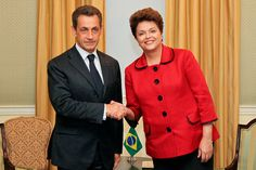 Nicolas Sarkozy and Dilma Rousseff - Nicolas Sarkozy - Wikipedia Watch V, Double Breasted Suit, Suit Jacket, Suits, Coat, Jackets, Fashion, Down Jackets, Moda