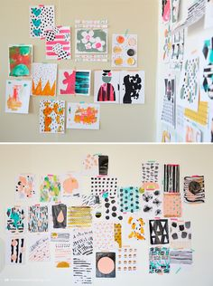Ashley Goldberg leads a workshop for Hallmark Cards artists