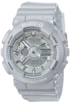 Casio Women's BA-110-8ACR Baby-G Silver-Tone Analog-Digital Display and Metallic Resin Strap Watch Casio,http://www.amazon.com/dp/B00ELAOH1S/ref=cm_sw_r_pi_dp_w85Ctb1VRFEVCNDR