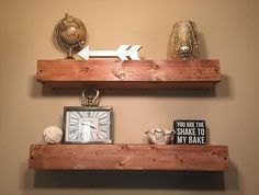 Floating Shelves by TheCleansedPallet on Etsy