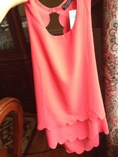 #stitchfix @stitchfix stitch fix https://www.stitchfix.com/referral/3590654 The Thrifty Spender: Stitch Fix June 2015: 0/5 Bust!!! Papermoon Violeta Scallop Detail Blouse Coral