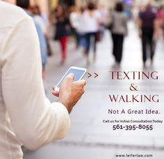 #TextingwhileWalking Not a Great Idea