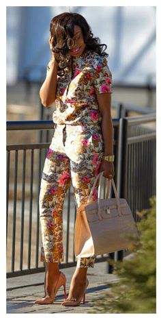 Spring Floral by Jadore-Fashion ~Latest African Fashion, African Prints, African fashion styles, African clothing~ African Inspired Fashion, African Print Fashion, Africa Fashion, Fashion Prints, Floral Fashion, African Prints, African Wear, African Attire, African Women