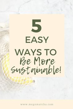 Sustainable Swaps: Easy and Cheap Things You Can Do. Here is a list of ways you can practice a more eco-friendly lifestyle. Zero-waste and plastic free living is one of the best ways to save the planet, and these easy sustainable swaps will help you get started on a journey to live more consciously and earth friendly. #eco #zerowastetips #sustainability #sustainable #lowwaste #plasticfreealternatives Health Tips For Women, Cheap Things, Save The Planet, Wellness Tips, Ways To Save, Sustainable Living, Zero Waste, Matcha, You Can Do