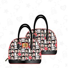 Lounge Fly New Original Licensed Betty Boop PU Satchel Women Handbag Purse Bag - LA COQUETA JEWELRY