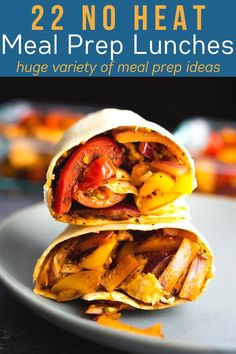 22 cold lunch ideas that you can meal prep ahead of time! These recipes are perfect for when you don't have access to a microwave. Browse through the salads, bowls, bento boxes, wraps and pitas! #sweetpeasandsaffron #noheatlunch Cold Lunch Recipes, Cold Lunches, Clean Eating Recipes, Lunch Meal Prep, Meal Prep Bowls, No Heat Lunch, Spiralizer Recipes, Chicken Meal Prep, Warm Food
