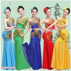 Chinese Minority Costumes Dai National Dress Women Chinese National Costume Clothing Ancient Traditional Chinese Dance Costume