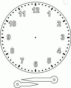 Clock-to-assemble - Kinderspiele Math Clock, Clock Craft, 2nd Grade Math Worksheets, Clock Worksheets, Teaching Time, Teaching Math, Clock Face Printable, Clock Template, Math Addition