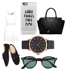 """""""Untitled #86"""" by lychavarria on Polyvore featuring Pilot, Wet Seal, MICHAEL Michael Kors, Ray-Ban, Marc Jacobs and Casetify"""