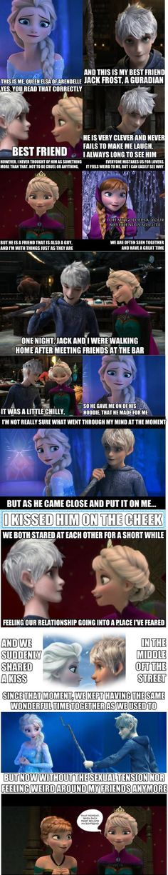 How Elsa met Jack Frost by InsaneHoneyBadger on deviantART