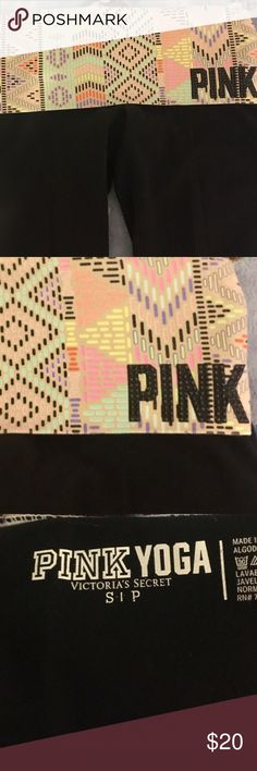 *final price* 🎀 VS PINK Yoga Pants 🎀 PINK Yoga Pants, in great condition! PINK Victoria's Secret Pants Track Pants & Joggers