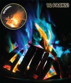 Mystical Fire - Amazing Color Changing Fire Packets 12 Pack - SHIPS FREE! - SEE THE VIDEO!