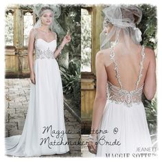 318e18be2543a Maggie Sottero @ Matchmaker Bride Romance is found in this stunning Paris  chiffon sheath dress with