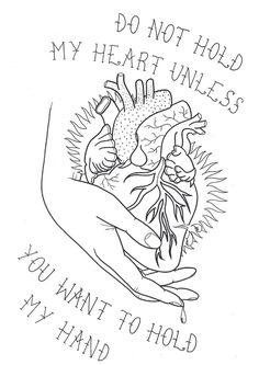 Heart In Hand Tattoo Flash