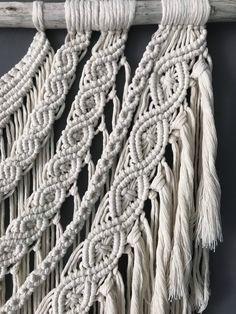 Macrame Wall Hanging Diy, Weaving Wall Hanging, Macrame Plant Hangers, Macrame Supplies, Macrame Projects, Macrame Cord, Macrame Knots, Bohemian Wall Decor, Finding A Hobby