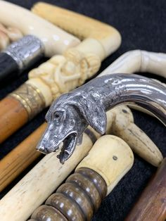 We just got in this amazing collection of antique canes and walking sticks. Vendor Displays, Walking Sticks, Canes, Antique Art, Antiques, Amazing, Collection, Walking Staff, Antiquities