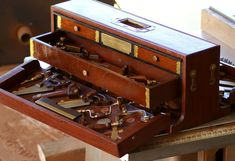 Woodworker Tool Chest full of miniature tools. Nice!