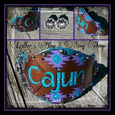 Hand painted leather bronc nosebands, fine me on FB..