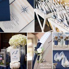 Sailor wedding theme ideas | Nautical Wedding Theme in Navy Blue & Bisque