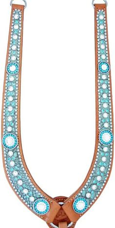 turquoise bling breast collar - Hollywood Breast Collars from Luan's Leathers - Horse Gear, Horse Tack, Cute Horses, Beautiful Horses, Side Pull, Barrel Racing Saddles, Tack Shop, Cowgirl Tuff, Western Tack