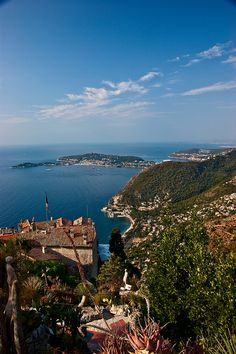 Coastline from Eze to Antibes by claudia via Flickr