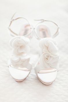 Badgley Mischka wedding shoes // photo by Simply Bloom Photography