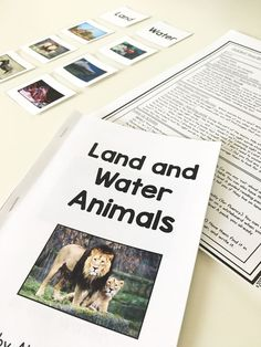 Guided reading lesson plans and printable books for level A! My students loved the land and water animals book + picture sort!