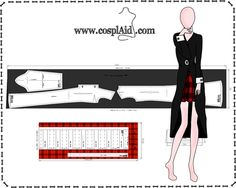 Cutting instructions for Asuna Yuuki cosplay by Cosplaid on DeviantArt Barbie Sewing Patterns, Doll Dress Patterns, Clothing Patterns, Elf Cosplay, Cosplay Outfits, Cosplay Costumes, Sewing Lessons, Sewing Hacks, Sombra Cosplay