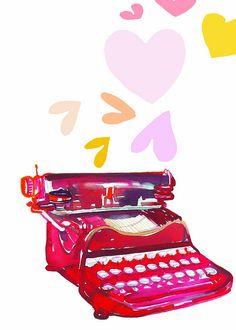 Typewriter love by Samantha Hahn