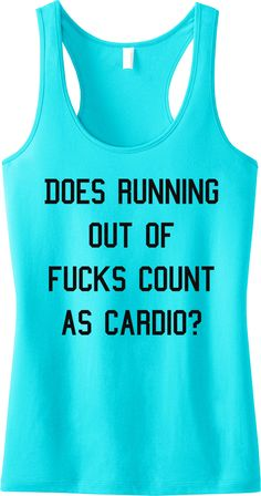 """LOL! Aqua """"Gym Class"""" Workout Tank Top by NoBull Woman Apparel. Click here to buy https://nobullwoman-apparel.com/collections/fitness-tanks-workout-shirts/products/gym-class-tank-top-aqua-with-black-print"""
