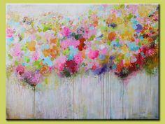 Large Colorful abstract Original Acrylic Painting door artbyoak1, $499,00