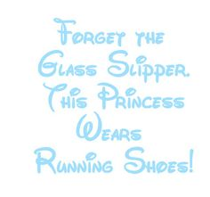 Personalized Run Disney Marathon or Half Marathon Princess  iron on decal vinyl for shirt