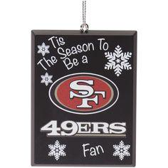 060308a80 San Francisco 49ers Tis The Season Plastic Ornament
