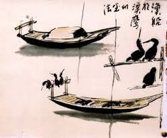 Image result for traditional chinese boats drawing painting
