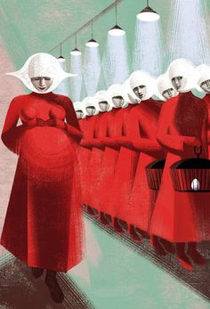 """Anna + Elena Balbusso's image titled """"Pregnant"""" for The Folio Society, UK edition of """"The Handmaid's Tale,"""" by Margaret Atwood, has earned them another Gold Medal from the Society of Illustrators in New York."""