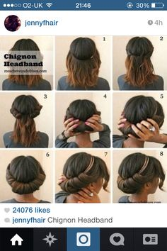 Quick and simple hair doo