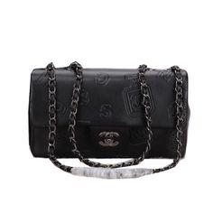 d8d5ad1017ad Chanel Classic Flap Bag Calfskin Leather CHA68630 Black -  239.00