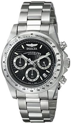 Invicta Men's 9223 Speedway Collection S Series Stainless Steel Watch with ink Bracelet