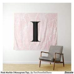 Pink Marble I Monogram Tapestry Marble Tapestry, H Monogram, Pink Marble, Christmas Card Holders, Bed Spreads, Keep It Cleaner, Vivid Colors, Hand Sewing, Picnic Blanket