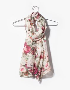 Butterfly and flower neck scarf
