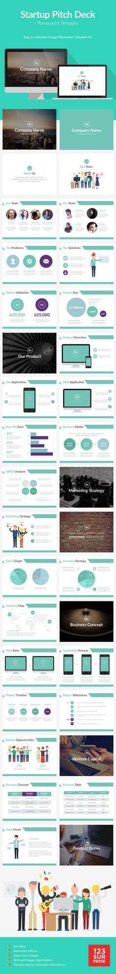 Startup Pitch Deck Template #design #slides Buy Now: http://graphicriver.net/item/startup-pitch-deck-template/12882233?ref=ksioks