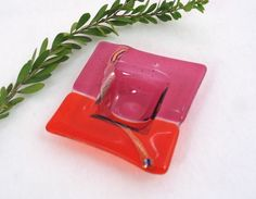 Fused Glass  Dish  Hot Pink and Bright by AlteredElementsGlass, $18.00