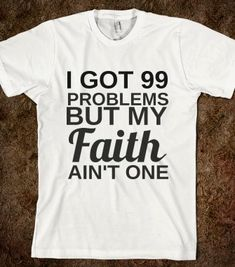FAITH AIN'T ONE - glamfoxx.com - Skreened T-shirts, Organic Shirts, Hoodies, Kids Tees, Baby One-Pieces and Tote Bags