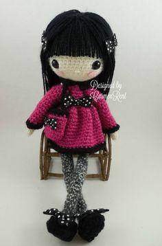 Pippa 11 1/12 and her Teddy Bear-Amigurumi Doll Crochet