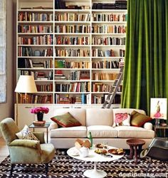 Domino Living Area by The Estate of Things, via Flickr #design #interior #home #modern #storage #display #books #inspiration #photography